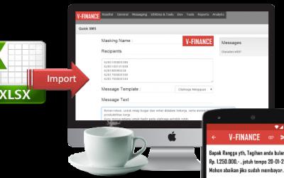 File To SMS (Kirimkan SMS dengan Isi Pesan dari File Excel Anda)